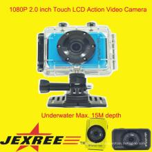 JEXREE SJ200 impermeabiliza la cámara completa del casco del deporte del hd 1080p actualizada