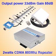 2watts CDMA 850MHz Repetidor de la señal del teléfono móvil