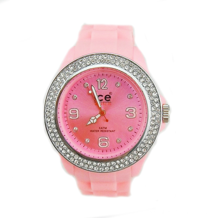 diamante student silicone quartz watch