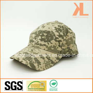 Хлопковая дрель Армия / Военная цифровая камуфляжная печать Бейсбольная кепка