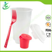 BPA-Free 3 в 1 Go Salad Cup с пользовательским цветом