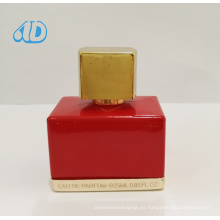 Ad-P238 Square Red Glass Perfume Bottle 25ml