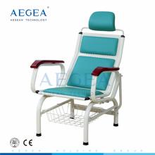 AG-TC002 médical équipement de perfusion unique utilisé des chaises en métal d'hôpital