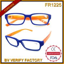 R-1127 New Trendy Chic Slim Fashion Reading Eyeglasses with Flannel Frame