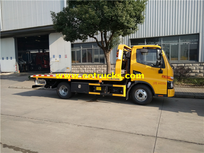 4ton Flatbed Car Towing Vehicles