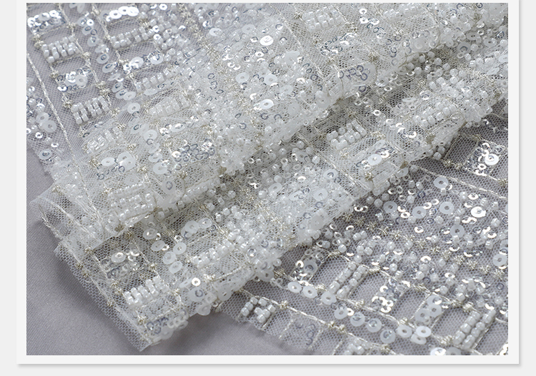 Beaded Embroidery Fabric