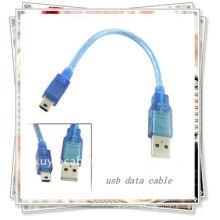 20 см USB-кабель для MINI 5PIN USB 2.0 Мужской кабель для Mini 5 Pin B Данные для мужчин Кабели Прозрачный синий