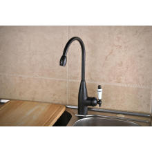 Q14601kb Orb Enamel Handle Rotatable Cold and Hot Kitchen Faucet Mixer Tap