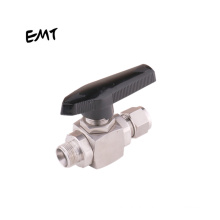 Shanghai EMT One Piece Gas Pneumatic 1/8 to 3/4 and 3 to 12mm General Instrumentation Compression Ball Valves Needle Valves