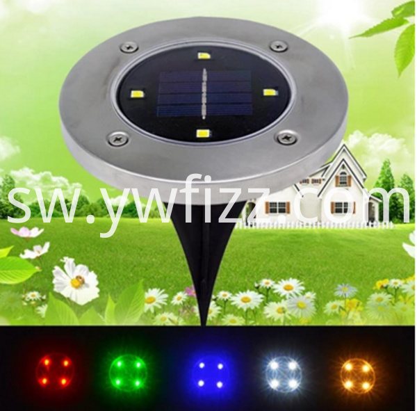 Solar 2LED buried lawn lamp