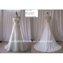Tulle with Lace Satin Under Heavy Lave & Beadingcustom wedding gown B1034
