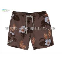 Impreso tela piel de durazno para pantalones de playa