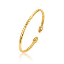 52253 XUPING Mais Recente Design de Moda 24 K Cor do Ouro Delicado Sem Pedra Banhado A Ouro Pulseira