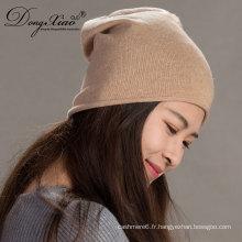 100% pur crâne de bonnet de ski de cachemire de chapeau de chapeau d'hiver unisexe
