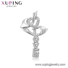 30209 xuping fancy 925 silver color rhodium plated special price letter love pendant