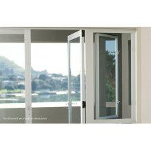 Bottom Axis Hinges Double Glass Aluminium Doors and Windows