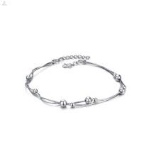 Bijoux élégants faits à la main bijoux en plaqué or blanc cheville bracelet pour les femmes