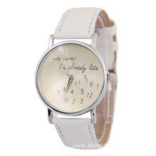 Fashion Design Business Men Leather Strap Wrist Watch