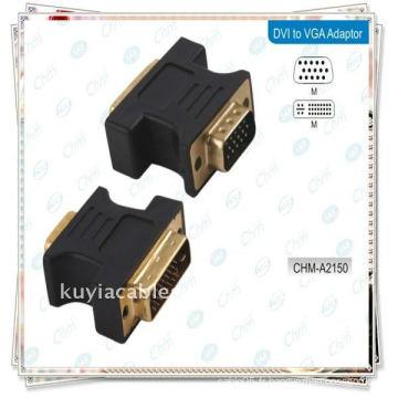 DVI TO VGA CONVERTISSEUR DVI 24 + 5 Male TO VGA mâle Moniteur Adaptateur Convertisseur
