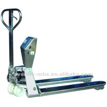 Stainless Steel Pallet Truck With Scales Scaled hand pallet truck Scaled pallet jack