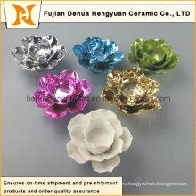 Красочный цветок формы керамический подсвечник (Home Decorative)