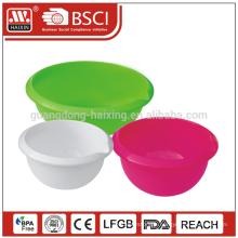 Passed GSG LFGB melamine food grade platic salad container large plastic salad bowl