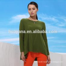 100% cashmere woman's long crewneck sweater