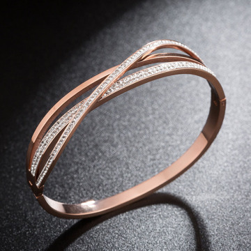 Womens Delicious Rose Gold Pave Diamond Armband