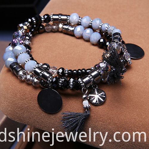 Multilayer Tassel Pendant Bracelet