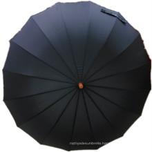 Black Pongee Straight Umbrella (JYSU-26)