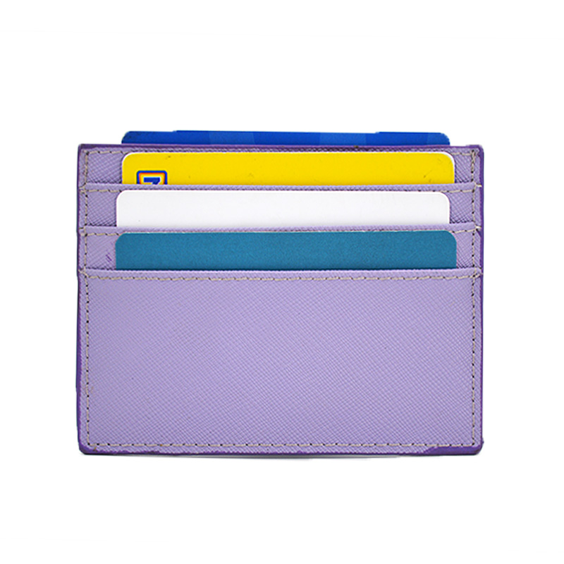 2019 New Fashion Pu Saffiano Leather Card Holder