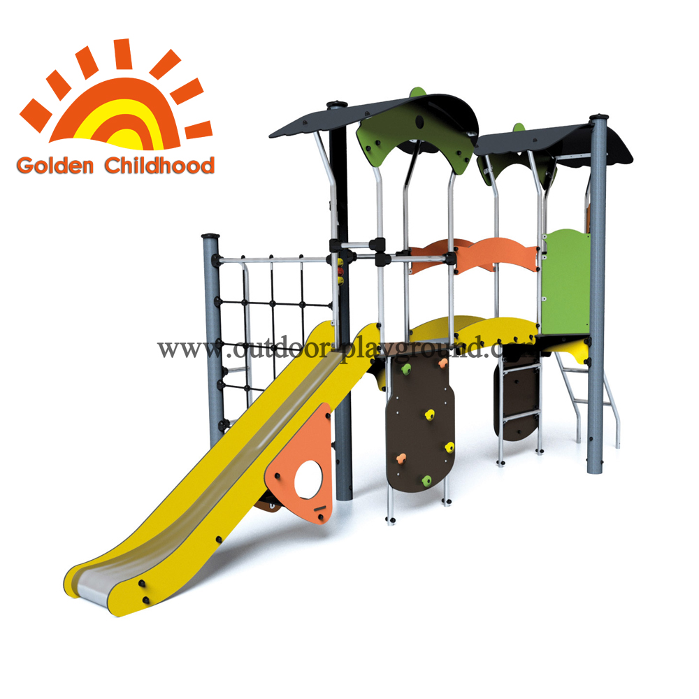 Panel Climbing Slide Outdoor Playground Facility For Children