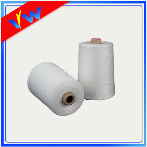 optical white polyester thread
