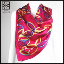 2015 Nueva bufanda de seda impresa cuadrado rojo del diseño