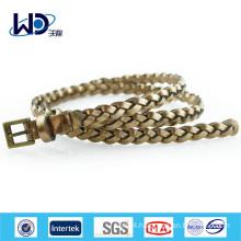 2014 Fashion girls gold braided belts