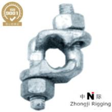 L'agrafe de poignée de poing est construite de l'agrafe de câble métallique galvanisée à chaud de haute qualité
