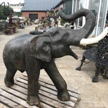 Large outdoor garden decor bronze elephant statue bangkok