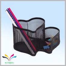 Office and school supplies black metal wire mesh table pen holder desk organizer