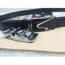 Men Leather Belts in Black (RF-160601)