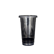 Hot disposable clear plastic coffee cups with dome lids with competitive price