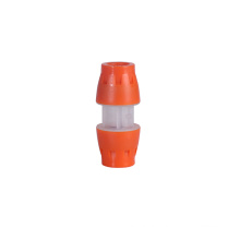 Micro duct straight male tube fitting hdpe microfit coupler connector