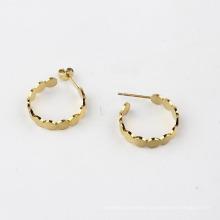 Fashion Jewelry Link Chain Hoop Earrings Big Circle Hoops Gold Color Earrings