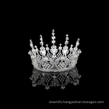 Beauty Fashion women alloy crystal Wedding Accessories Pageant bridal Crown Full Circle Tiara