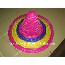 Sombreros de paja coloridos sombrero
