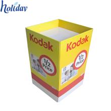 bacs de décharge recyclables promotionnels de carton pour la vente au détail, affichage de poubelles de vente au détail