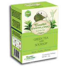 Soursop Flavored Green Tea Pyramid Tea Bag Premium Blends Organic & EU Compliant (FTB1509)