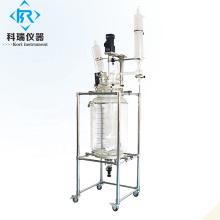 Cuve de réaction en verre pour réacteur chimique à double enveloppe SF-50L