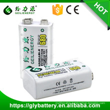 Geilienergy Rechargeable 680mAh 9V Lithium Polymer Battery Pack