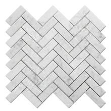 White Carrara Mosaic Marble Stone Marble Mosaic Tiles Mosaic Wall Decoration