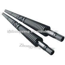 screw barrel PVC conical twin screw barrel double screw barrel for PVC profile extrusion
